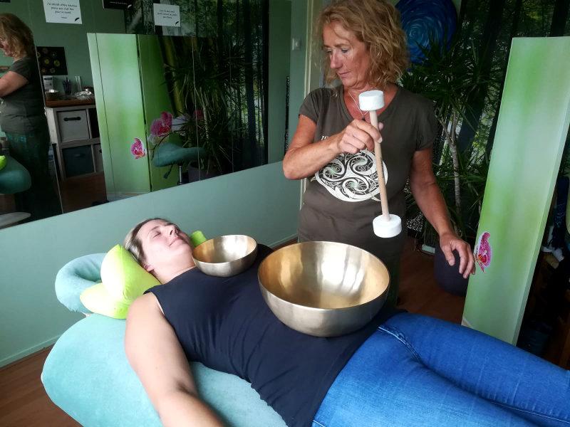 Klankschaal massage geeft een zeer diepe ontspanning